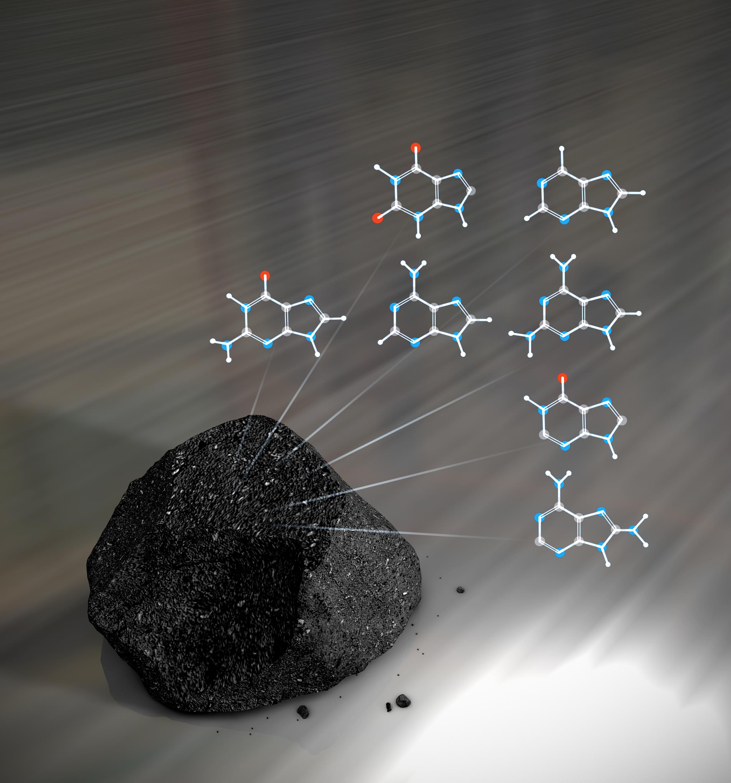 ADN en los meteoritos. NASA 578295main_callahan_cover_illustration