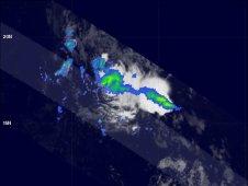 TRMM saw rainfall in System 92L on August 12, 2011 at 0353 UTC.