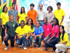Participants in the Caribbean Youth Science Forum