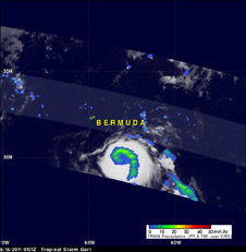 TRMM image of Tropical Storm Gert on Aug. 15, 2011