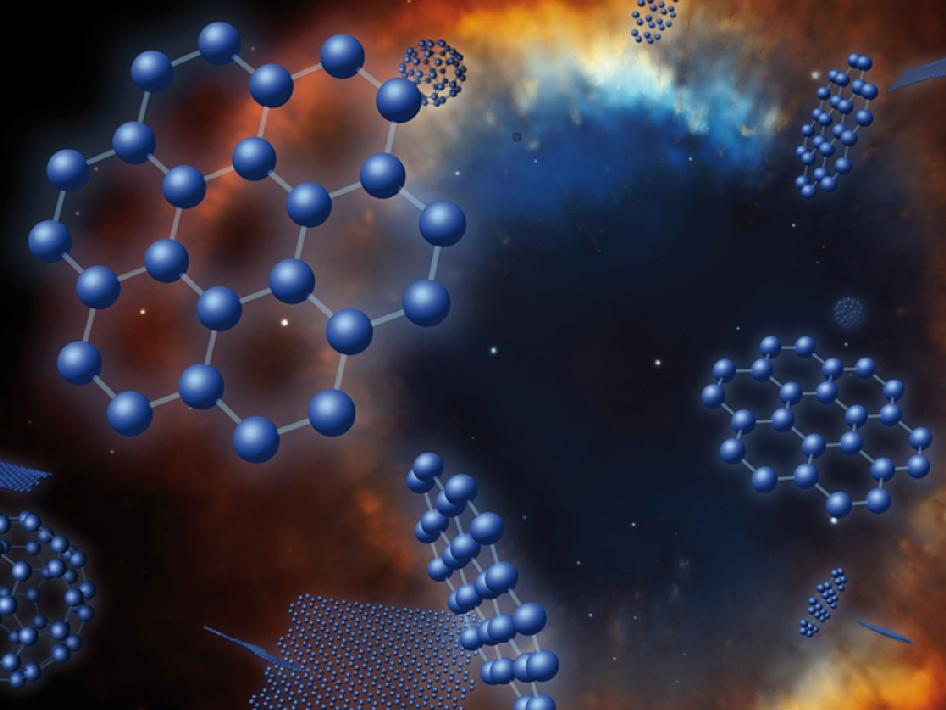 Artist concept of graphene in space