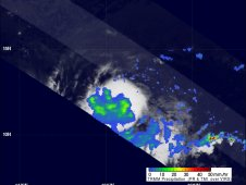 TRMM passed over Fernanda at 4 a.m. EDT on Aug. 16