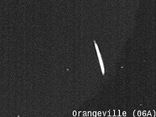 Composite of Lake Erie fireball meteor, as seen by the Orangeville, Ontario camera
