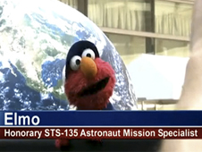 Sesame Street's Elmo attends a NASA event in New York City