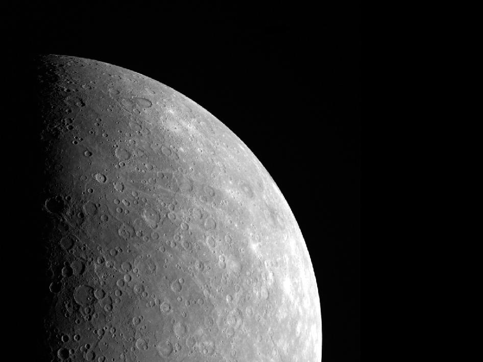Image from Orbit of Mercury:Cosmic Rays Near Mercury