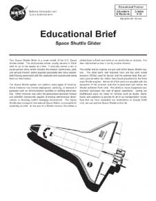 Cover of space shuttle paper model activity