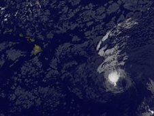 GOES-11 saw Tropical Storm Fernanda on August 19 at 5 a.m. local Hawaii time.