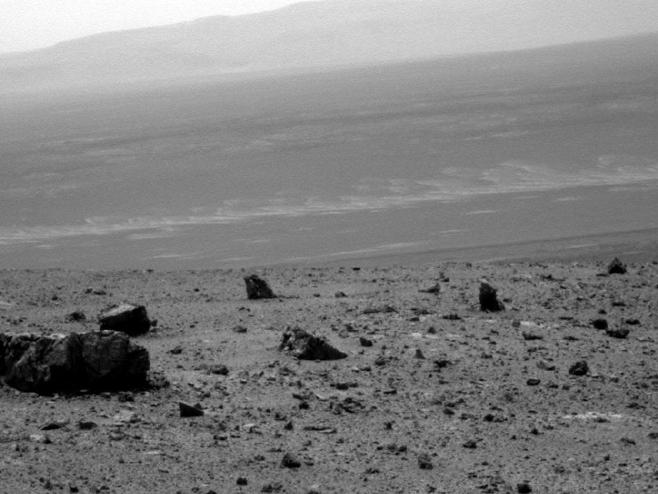 View across Endeavour crater
