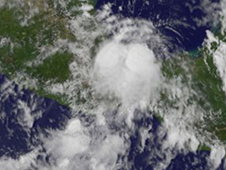 image of storms Harvey and Irene created from satellite data