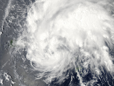 image of storm Irene created with satellite data