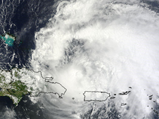 image of Irene created from satellite data
