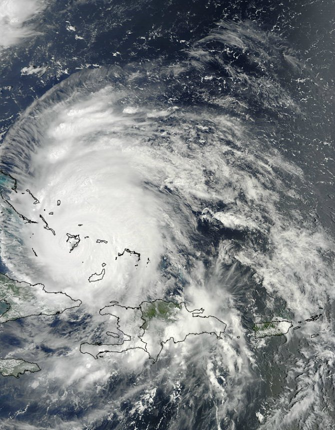 MODIS captured this image of Hurricane Irene on August 24, 2011 at 15:05 UTC (11:05 a.m. EDT).