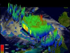 Another 3-D view of Irene was captured on August 24