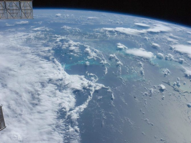View of Hurricane Irene near the Bahamas as seen from the International Space Station on August 23, 2011.