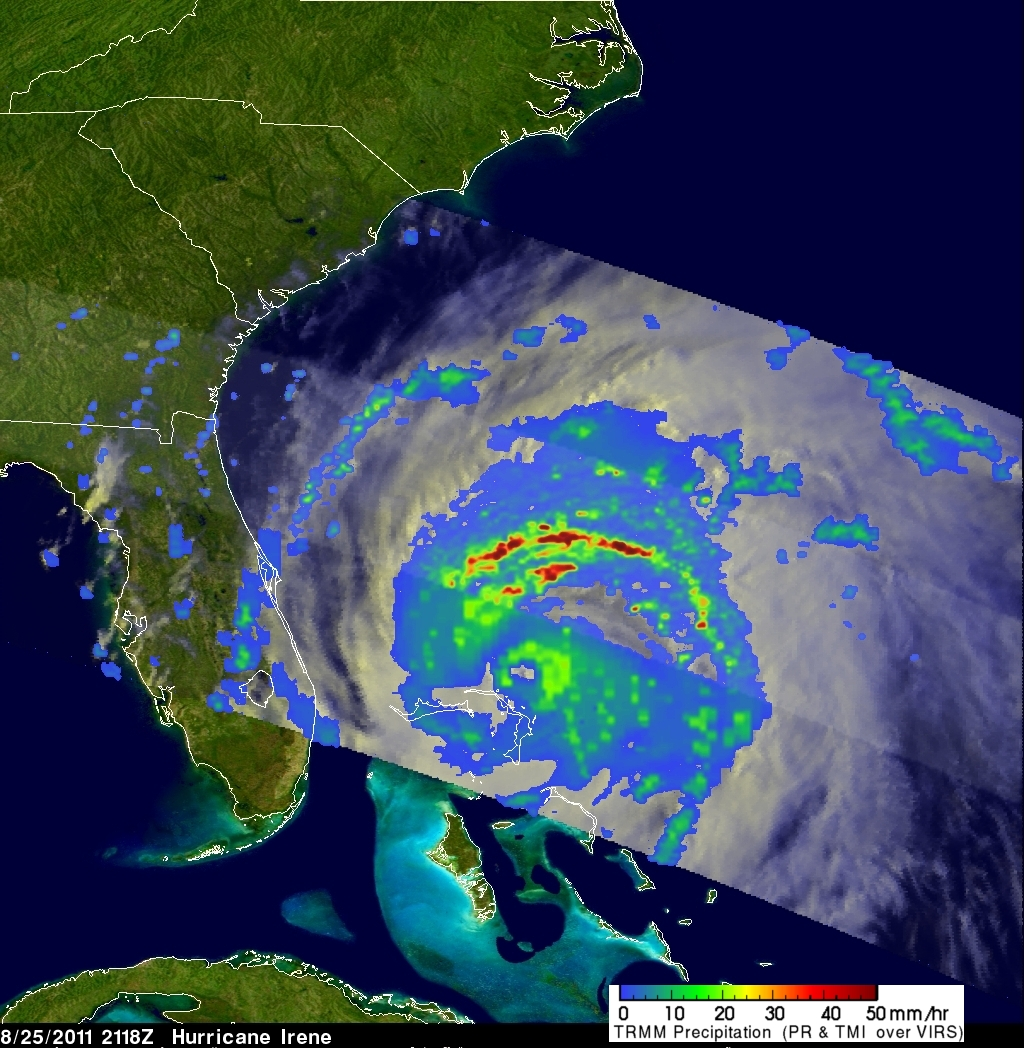Satellite Image Of Irene