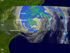 satellite image of Irene