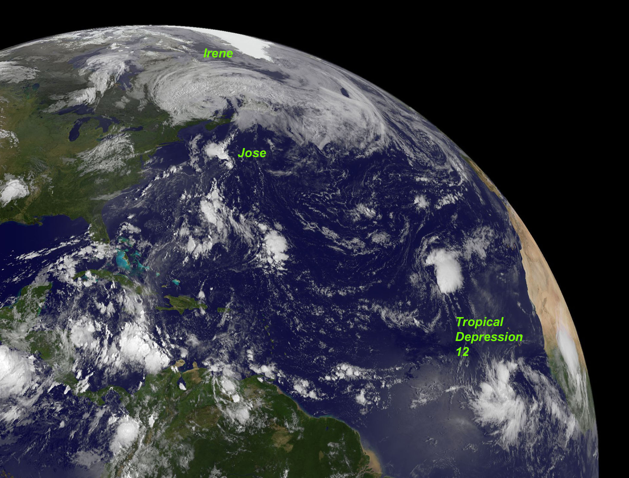 NASA - Hurricane Season 2011: Jose (Atlantic Ocean)