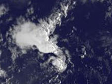 satellite image of Irene, Jose and TD-12