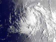 Tropical Storm Katia seen by GOES on August 30, 2011.