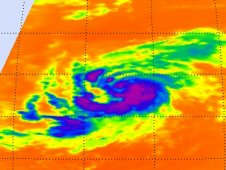 Tropical Storm Katia taken by the AIRS instrument on NASA's Aqua satellite on August 31st at 1:05 a.m.