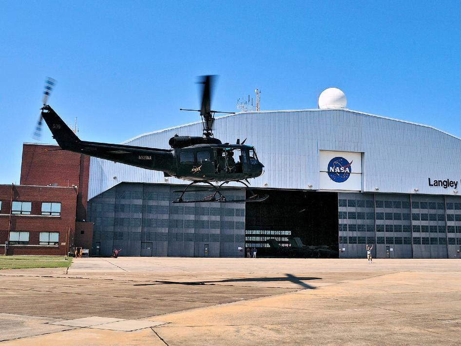 NASA Langley's Bell UH-1H Huey helicopter