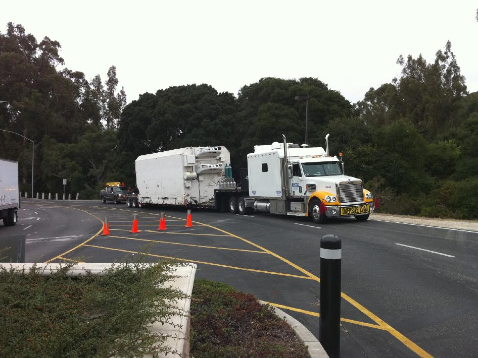 NPP arrives at Vandenberg Air Force Base on board a truck