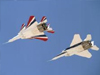 NASA's two modified F-15B research aircraft in flight