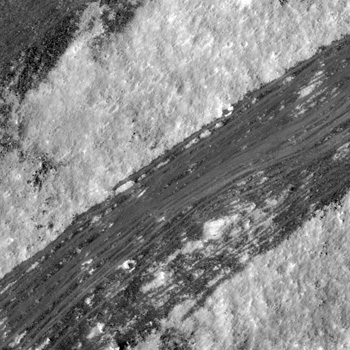 Dark material on the wall of a Copernican crater