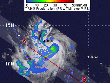 TRMM captured a rainfall image of Tropical Storm Katia on August, 31, 2011 2:29 p.m. EDT.