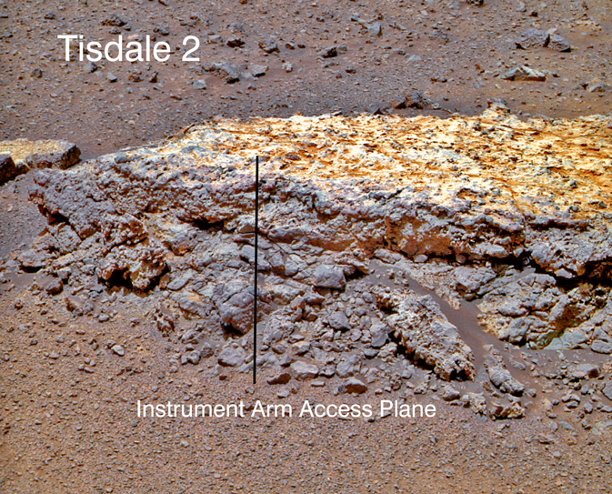 Martian rock Called Tisdale 2