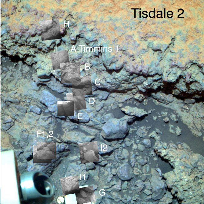 Locations of Microscopic Imager Observations on Tisdale 2