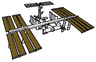 International Space Station Drawing - Pics about space