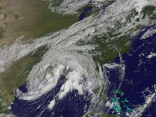 GOES image of Lee on Sept. 4, 2011