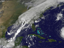 GOES image of Lee from September 5, 2011