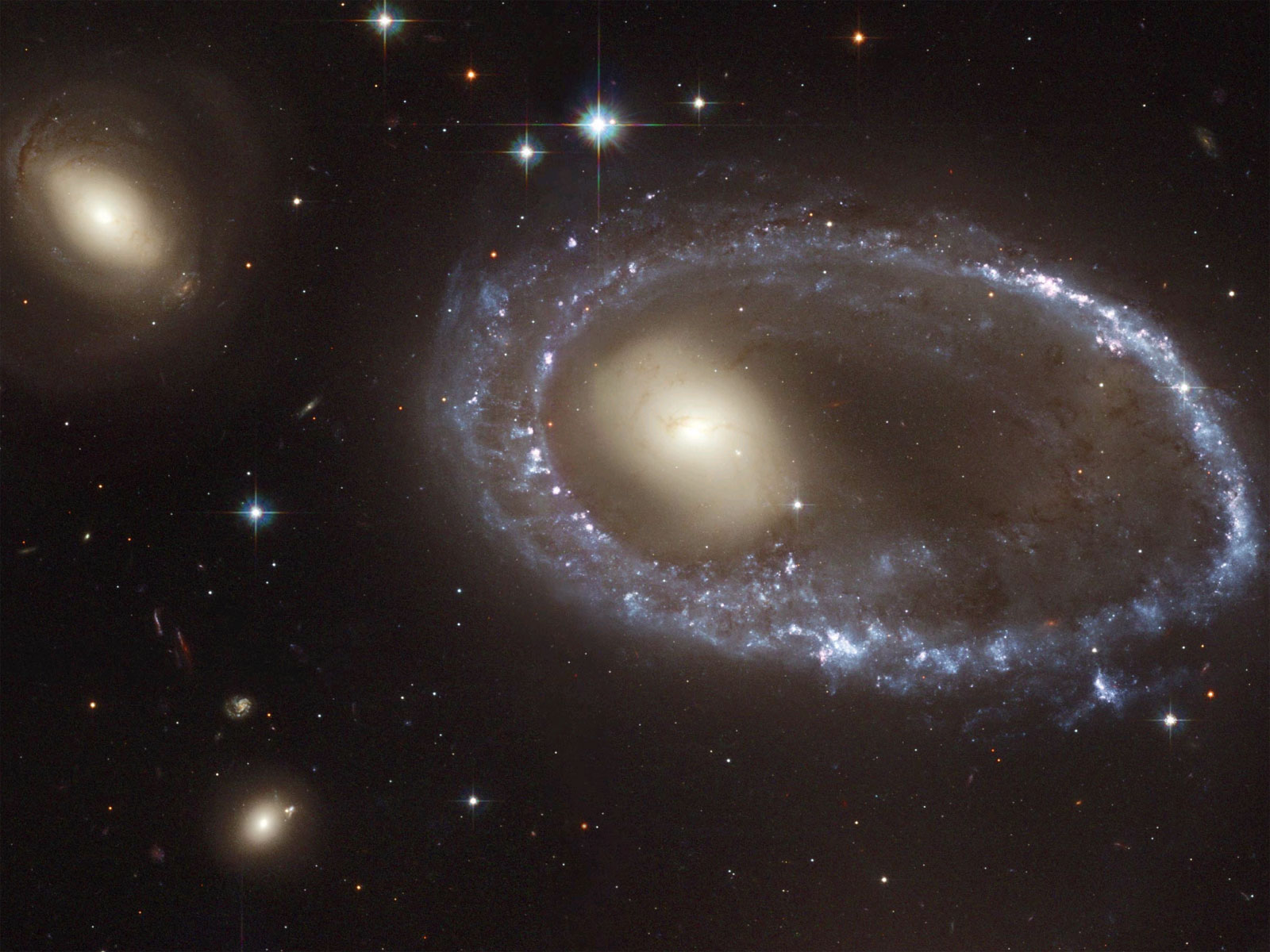 NASA image of collisional galaxy AM06447-741