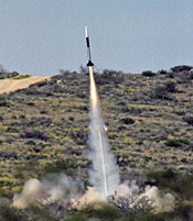 Launch of the first Dryden Aerospike rocket.