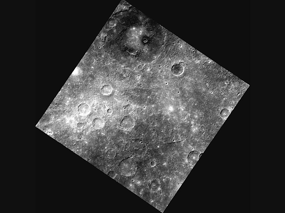 Image from Orbit of Mercury: New Images Reveal a Dark Side