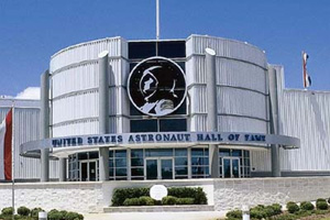 Main entrance to the Astronaut Hall of Fame.