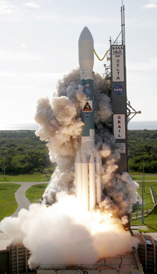 NASA's GRAIL mission blasts off from Cape Canaveral Air Force Station, Fla.