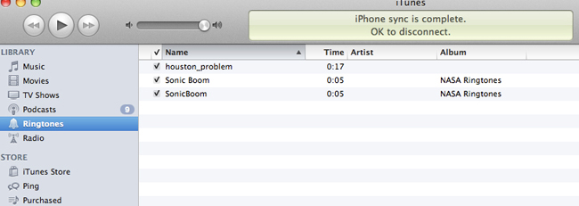 Screen shot of iTunes