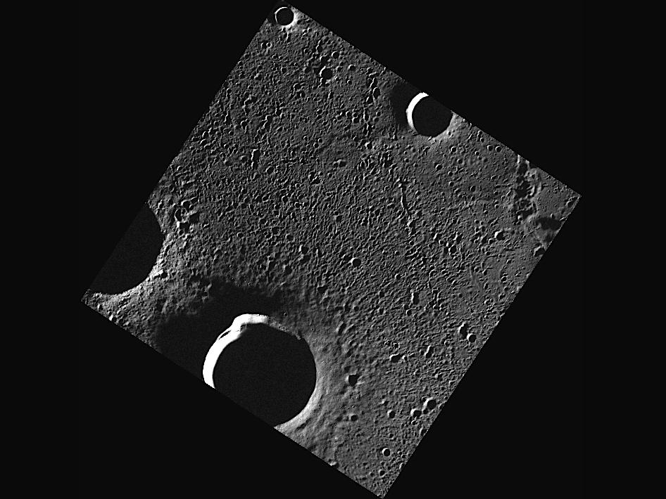 Image from Orbit of Mercury: Radar-bright Craters in Goethe