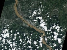 NASA's EO-1 satellite captured this natural-color image on September 10 of the Susquehanna River, loaded with sediment.