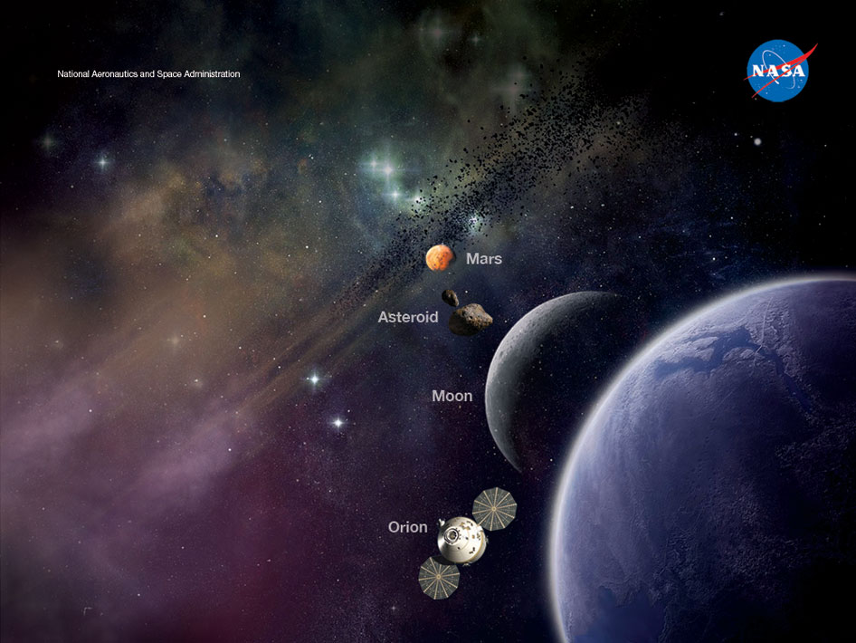 concept of future destinations for human space exploration.