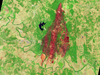 Advanced Land Imager (ALI) image of Bastrop fires in Texas