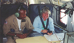 Picture of Robbie Hood and Mark Corlew in the NASA DC-8 aircraft