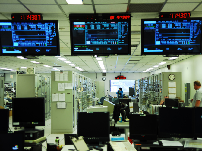 A view inside the MILA facility that has served as a tracking station for every space shuttle launch and landing.