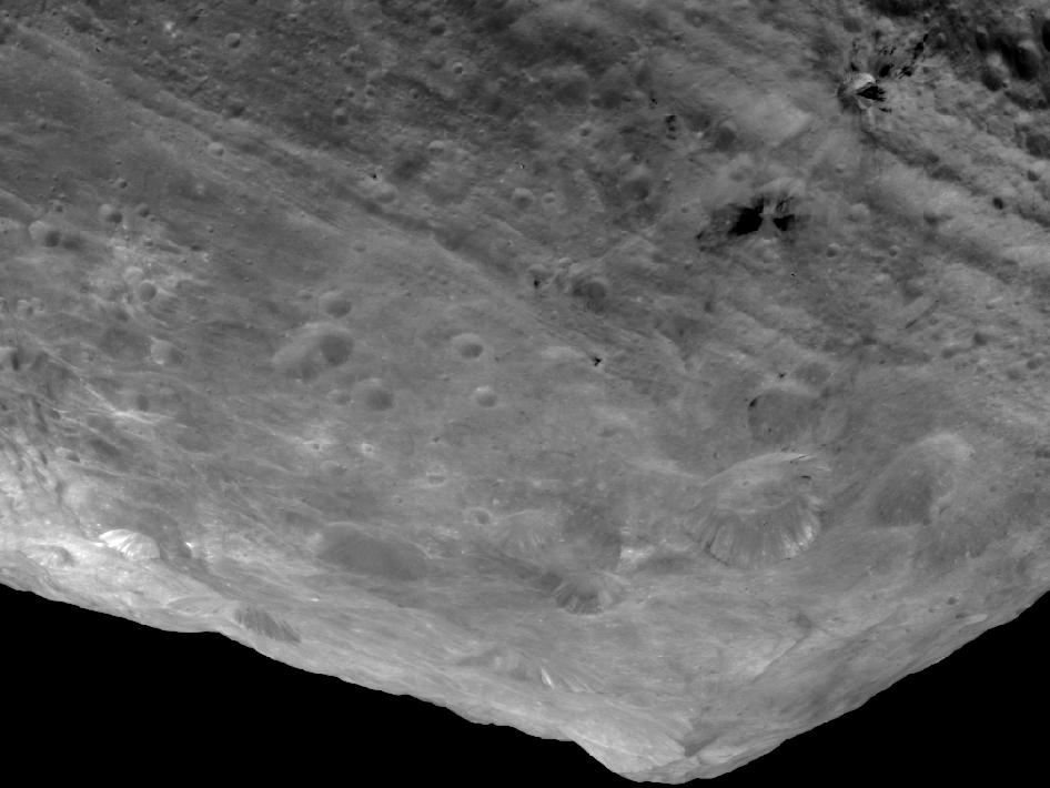Mountain tops on Vesta