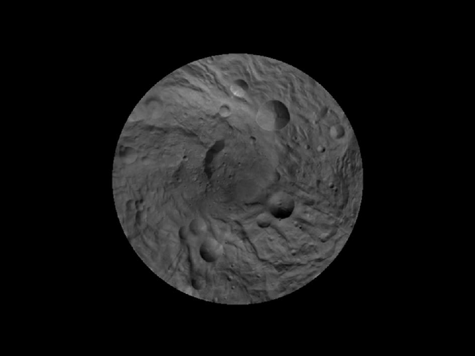 Map of Vesta's south pole