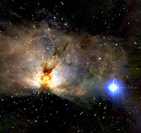 Nebula in Orion as seen by 2MASS.