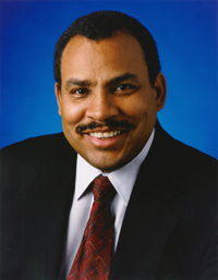 Assistant Administrator for Small and Disadvantaged Business Utilization, Ralph C. Thomas III. Photo credit: NASA/Bill Ingalls.